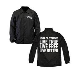 Live True Black Windbreaker