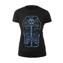 Skeleton Coffin Black Girl's T-Shirt