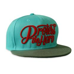 Red Stacked Script Teal/Grey Snapback