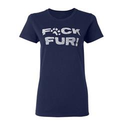 Fuck Fur Navy Girl Shirt