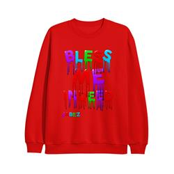Bless Me Indeed Red Crewneck