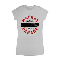 Black Lines Silver Girl's T-Shirt