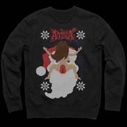 Santa Lick Black Crewneck