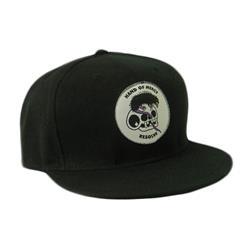 Skull Rat Black Snapback Hat