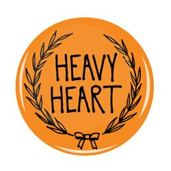 Heavy Heart Orange Button