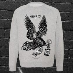 Sneaky Eagle Heather Grey Crewneck