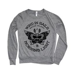 Moth Heather Grey Girls Crewneck