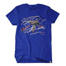 CharlesArt Splatter Royal Blue