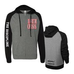 The Discipline Black/Gray Zip-Up Lightweight Sweatshirt
