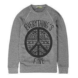 Peace Sign Grey Crewneck