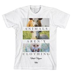 Animals Aren't Clothing  White Extra Small