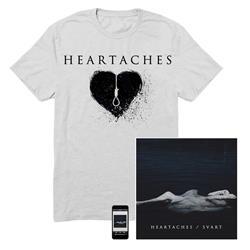 Svart Cd/Heart T-shirt