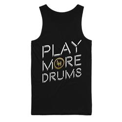 Play More Drums Gold Foil Black