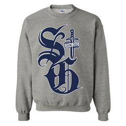 Big SG Heather Grey Crewneck