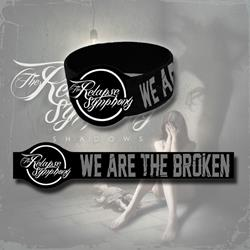 We Are The Broken Black Die Cut Wristband