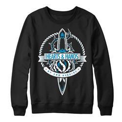 Dagger Black Crewneck Sweatshirt
