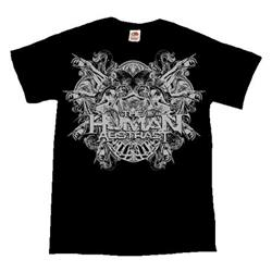 Death Crest Silver On Black