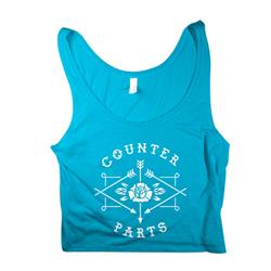 Arrow Logo Blue Crop Top