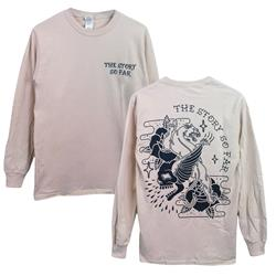 Skull Panther Cream Long Sleeve Shirt