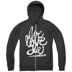 Live Love Die Charcoal Heather