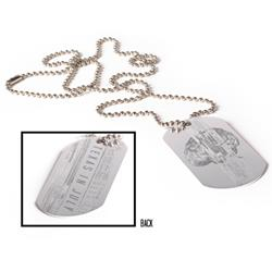 Brain Silver Dog Tag