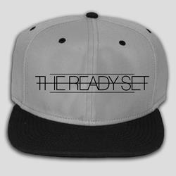Black Logo Charcoal Snap-Back Hat