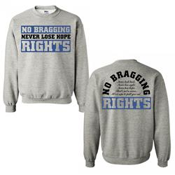 Never Lose Hope Heather Grey Crewneck Sweatshirt