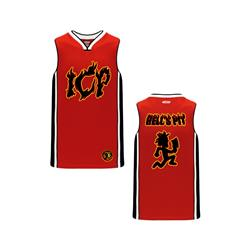 Hell's Pit Red/Striped Basketball