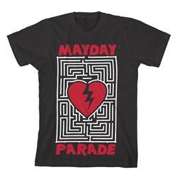 Heart Maze Black T-Shirt