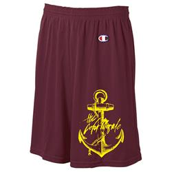 Gold Anchor On Maroon