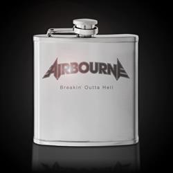 Breakin' Outta Hell Silver Flask