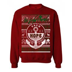 Know Ho Ho Hope Heather Red Crewneck
