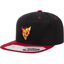 Split Face Black-Red Snapback