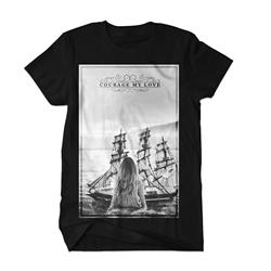 B/W Ship Black T-Shirt