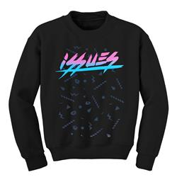 Neon Logo Black Crewneck Small