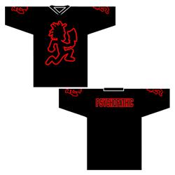 Hatchetman Outline Black Hockey Jersey