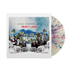 Heavy Love Clear W/ Red And Blue Splatter