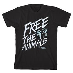 Free The Animals Black  Extra Small