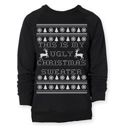 Ugly Christmas Black Crewneck