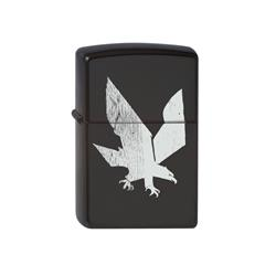White Eagle Black Refillable Lighter