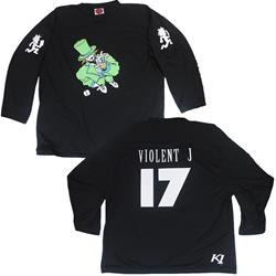Violent J 17 Black Hockey Jersey
