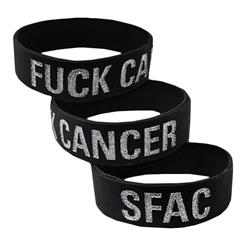 Fuck Cancer Glitter Black