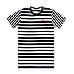 Don't Cry Embroidered Black And White Striped