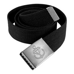 Anchor Logo Black Belt & Buckle