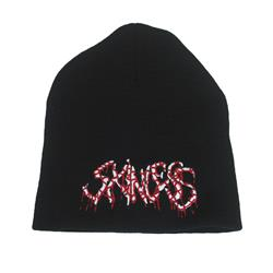 Red/White Logo Black Beanie