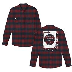 Find A Solution Red/Black Buffalo Flannel Long Sleeve