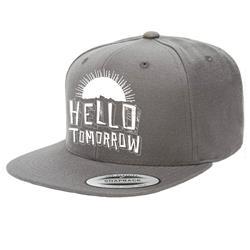 Hello Tomorrow Dark Grey Flat Brim