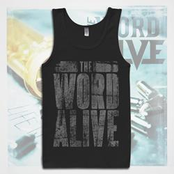 Stacked Logo Black Tank Top