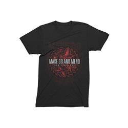 Floral Tri-Black T-Shirt