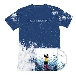 Skinny Dipping - CD + Blue/White Splashed Tie-Dye Tee